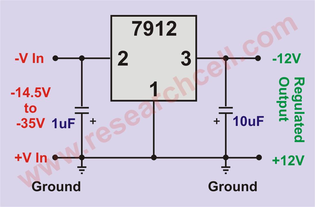 7912 Basic Circuit Diagram
