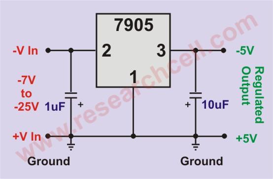 7905 Basic Circuit Diagram