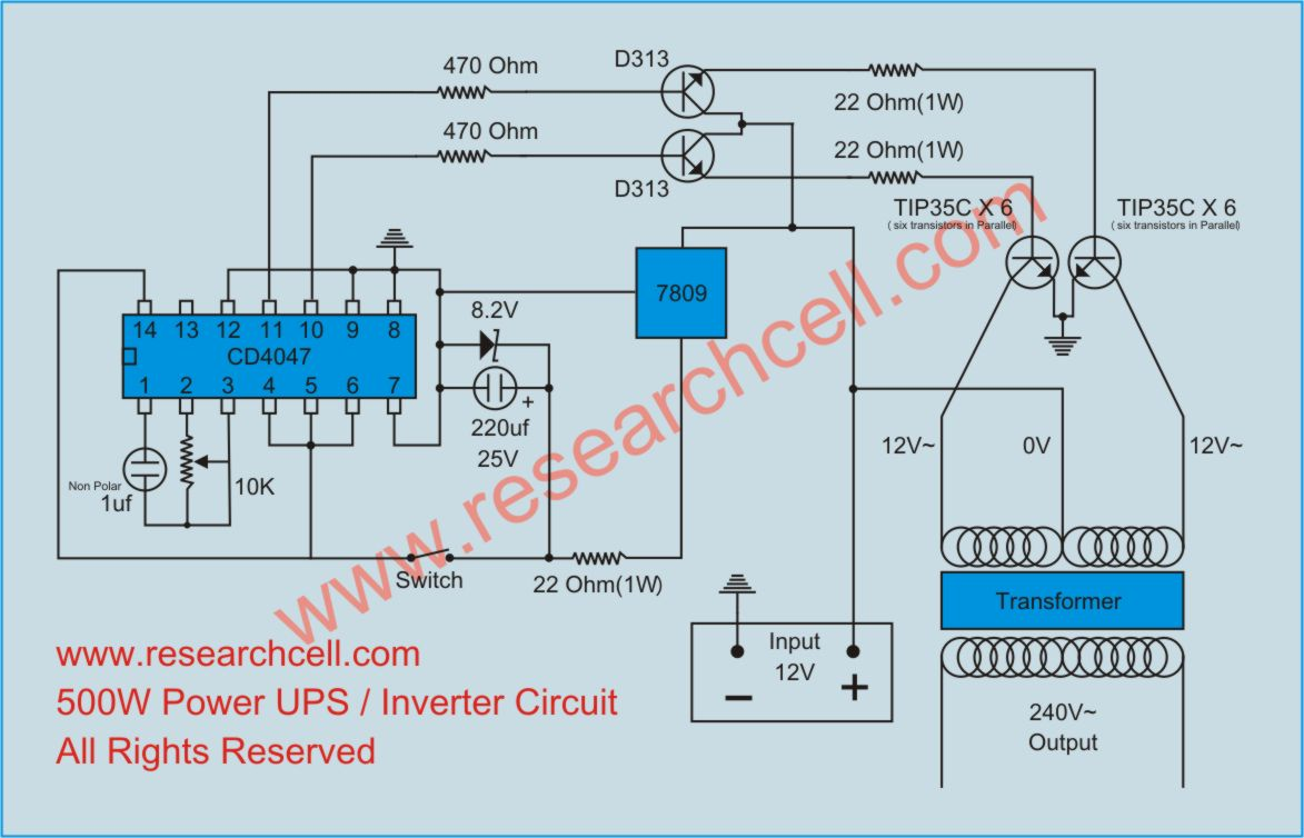 Circuit Diagram Of Inverter Free Wiring For You Ups In Pdf 500w With Charger